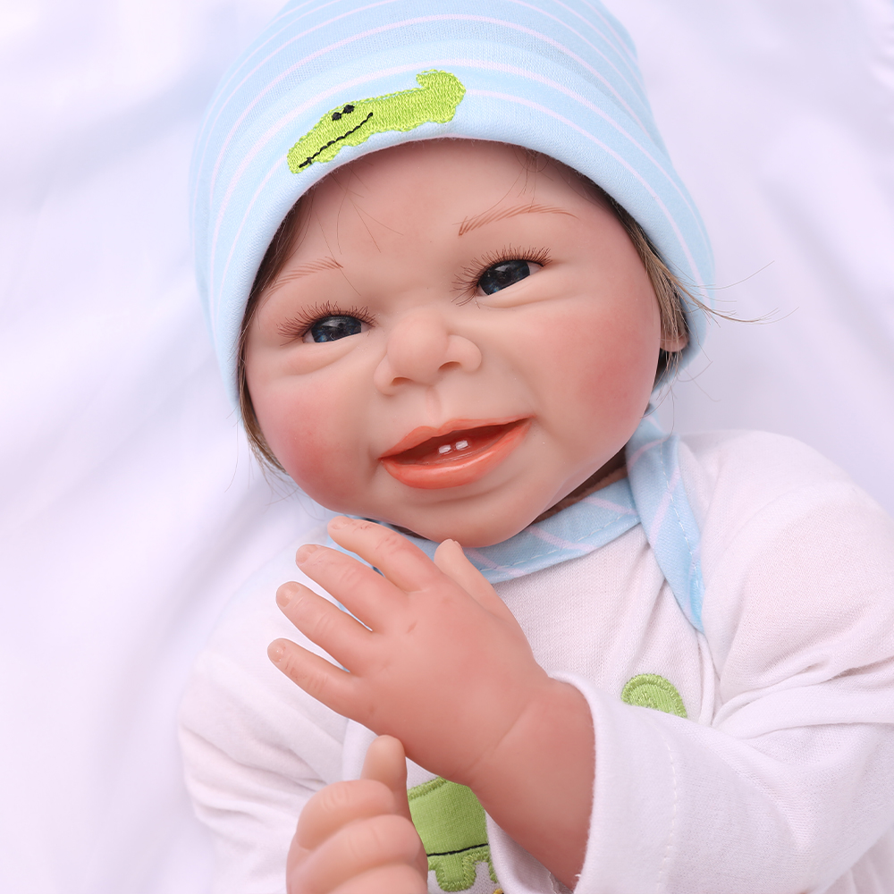 New bebe real reborn babies dolls 55cm silicon doll brinquedos for Childrens toys Christmas gift