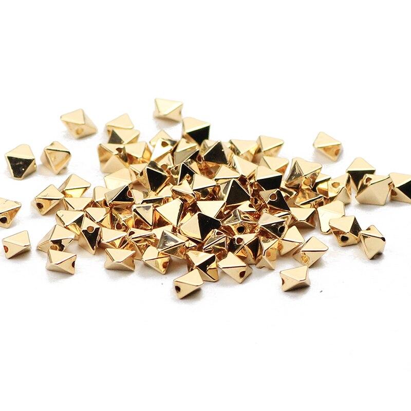 103 un Natural Plata Oro Hematita 4-7mm forma irregular suelto espaciador granos