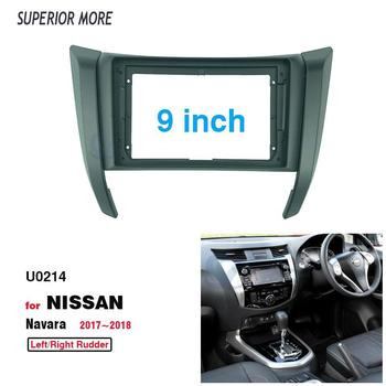 2 Din 9 Inch Car Radio Installation DVD GPS Mp5 Plastic Fascia Panel Frame for NISSAN NAVARA NP300 FRONTIER 2017 Dash Mount Kit image