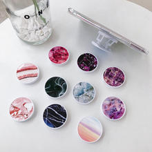 Luxury Colorful Marble Foldable Phone Stand Holders For All Phones and Tablets Mobile Phone Universal Finger Ring Holder