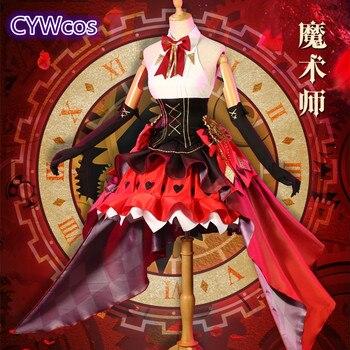 DATE A LIVE Tokisaki Kurumi Time Magician Cosplay Costume Halloween Outfits Woman Party Dress 1