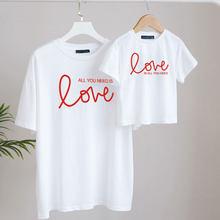 Famille correspondant t-shirts maman et moi vêtements bébé fille fille Look tenues garçons maman mère saint valentin