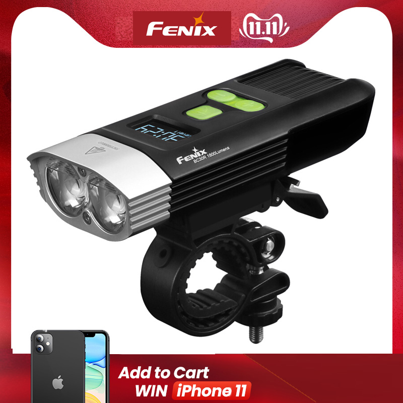 NEW Fenix BC30R Cree XM-L2 U2 LED High Intensity Bike Light USB Charger Build-in Lithium Battery OLED Screen Free Shipping