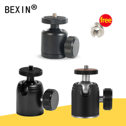 Panoramic 360 Degree Rotation Swivel dslr Camera tripod Head adapter Tripod Mount ballhead Mini Ball Head for Canon Nikon sony