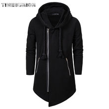 2020 Assassin Creed Sweatercoat Dark Stropdas Hooded Losse Jas Rits Hoodies Black Dark Grey Hoodies Mannen(China)