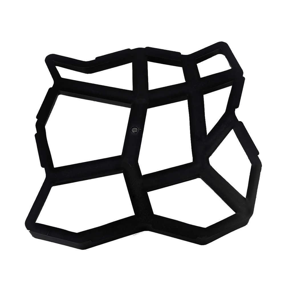 DIY ריצוף עובש בית גן רצפת כביש בטון דריכה בחניה אבן נתיב עובש פטיו יצרנית שחור פלסטיק ביצוע