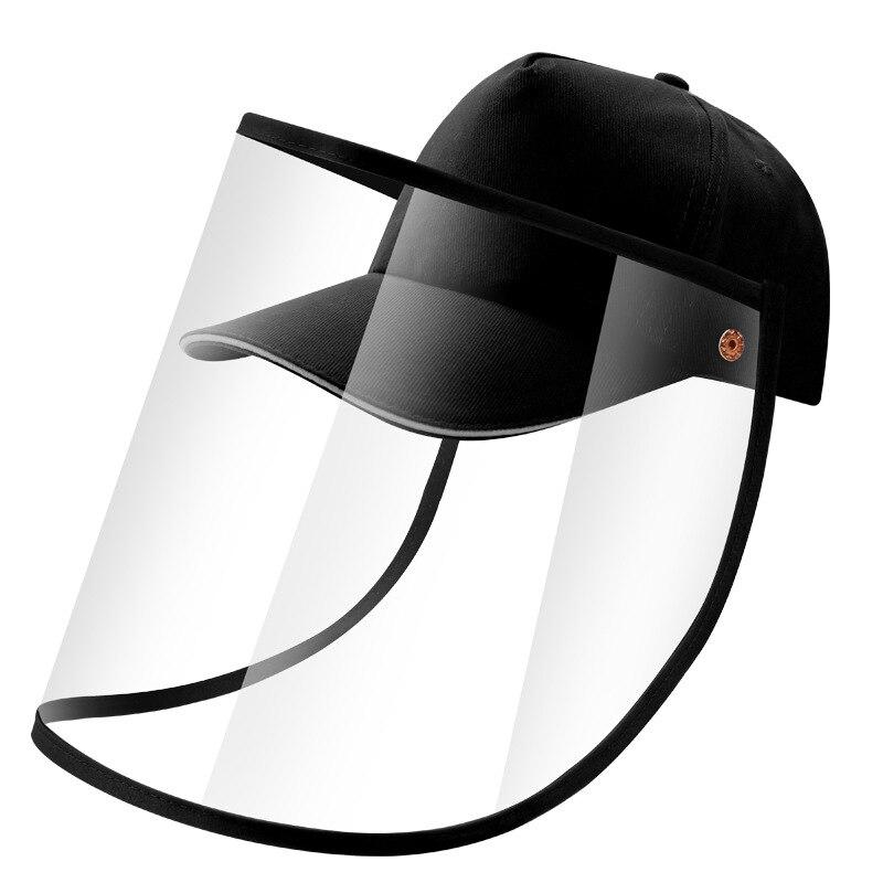 Anti Droplet Face Shield Fisherman Hat Black Dust Proof Cover Face Anti Fog Full Face Mask Protective Baseball Cap