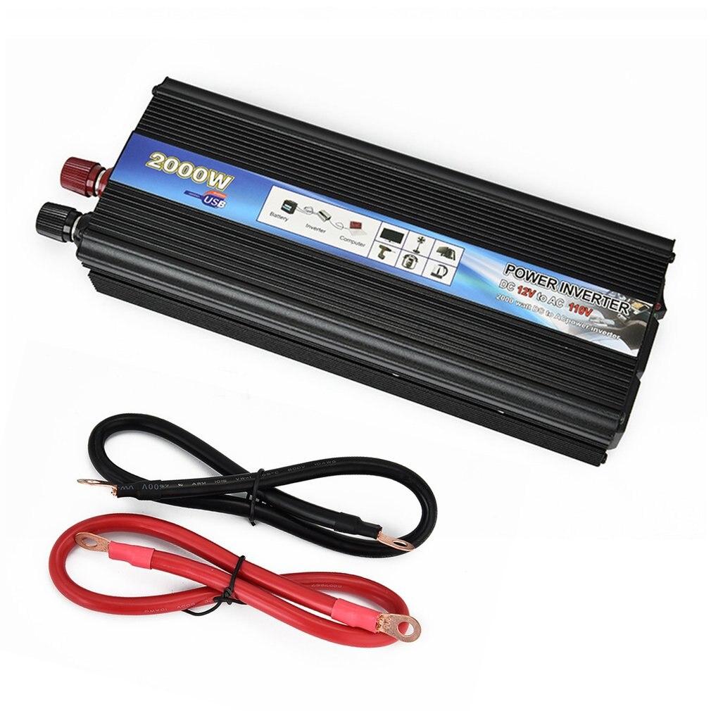 XUYUAN Auto Inverter DC 12V AC 110V 50Hz Auto Inverter 2000W Solar Power Converter Inverter Mit USB Port Lüfter System