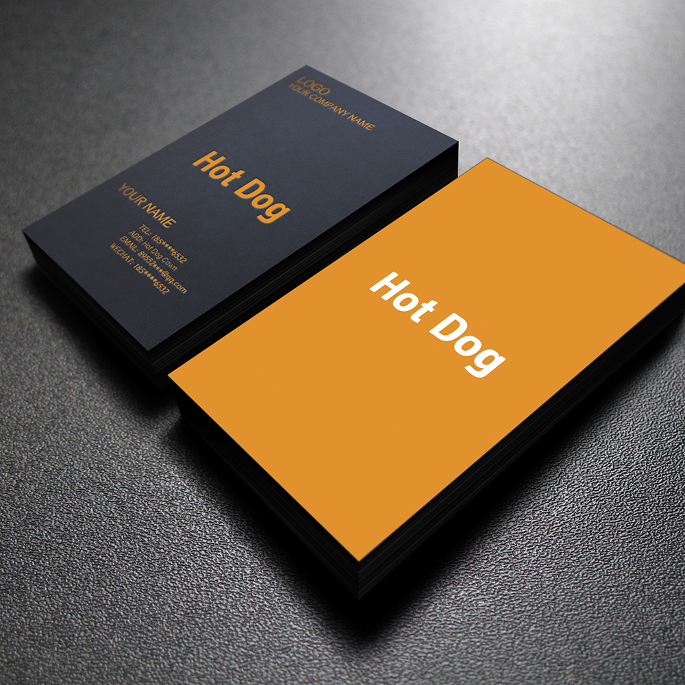 Free design Free Shipping Custom logo business card Surface lamination 300g Double copper paper double-sided full-color printing