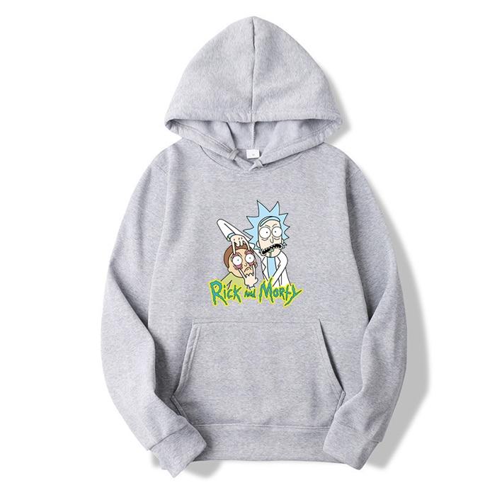 Hot Men's Hoodies Hip Hop Brand Hoodies Casual Sweatshirt With High Quality Rick Morty Print Sweatshirts Male Fashion Hoodie
