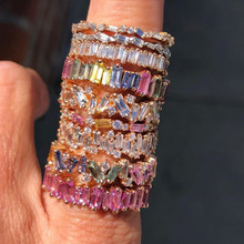 UILZ Thin T Ring Brand Engagement Handmade AAA Cz Rings For Women Mother Fashion Finger Accessories Anel Wedding CRP252E