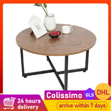 Creative Kitchen Wood Low Round Coffee Table Storage Table Tea Fruit Snack Service Plate Tray Living Room Sofa Side Table HWC