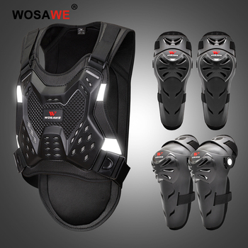 WOSAWE Moto Racing Motocross Protective Guards Gear Motorbike MTB Knee Elbow Pads Motorcycle Body Armor Chest Protector Brace wosawe mtb motorcycle knee elbow protective pad set motocross snowboard racing ski racing roller body protection knee pads kits