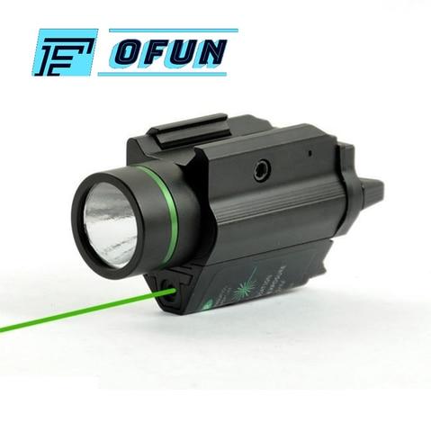 tactical combo metal ponto verde laser visao led laser lanterna com 20mm ferroviario weaver picatinny