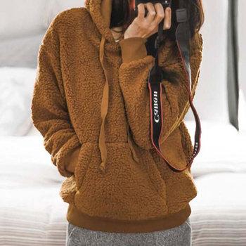 2019 Winter Hoodie Sweatshirt Women Autumn Women Hoody Ladies Hoodies Pullover Sweatshirt Thicken Warm Sweatshirt Female фото