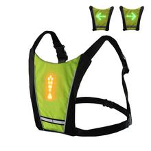 MTB Bike LED Reflective Vest Turn Signal Vest Warning Cycling Vests For Bicycle Riding Night Warning Lighting Supplies sports safety warning vest fluorescent riding clothes motorcycle reflective vests