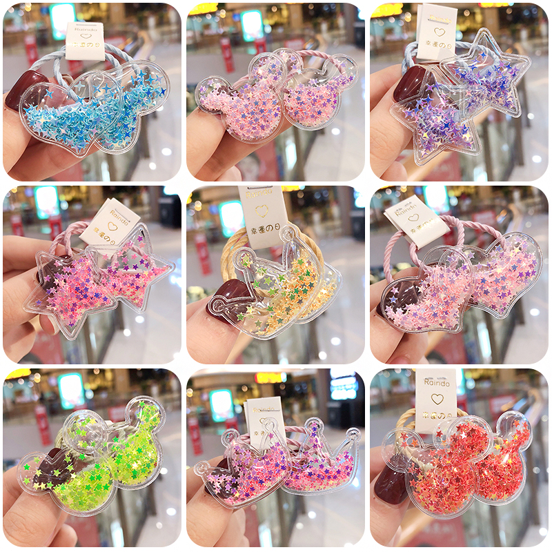 2019 New Cute Crown Star Heart Girls Rubber Bands Princess Hair Ornament Headwear Elastic Hair Bands Headbands Hair Accessories