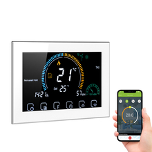 Wi-Fi Smart Programmable Thermostat Voice APP Control Backlight LCD Water/ Gas Boiler Heating Thermoregulator ℃/ ℉ Switchable