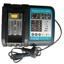 Литий-ионная батарея зарядное устройство 3A зарядный ток для Makita 14,4 в 18 в Bl1830 Bl1430 Dc18Rc Dc18Ra Электроинструмент Dc18Rct зарядка Eu вилка