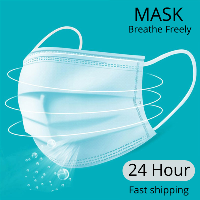 20 Pcs/Bag 3 Layer Non-woven Dust Face Mask Thickened Disposable Mouth Masks Features As KF94 FFP2