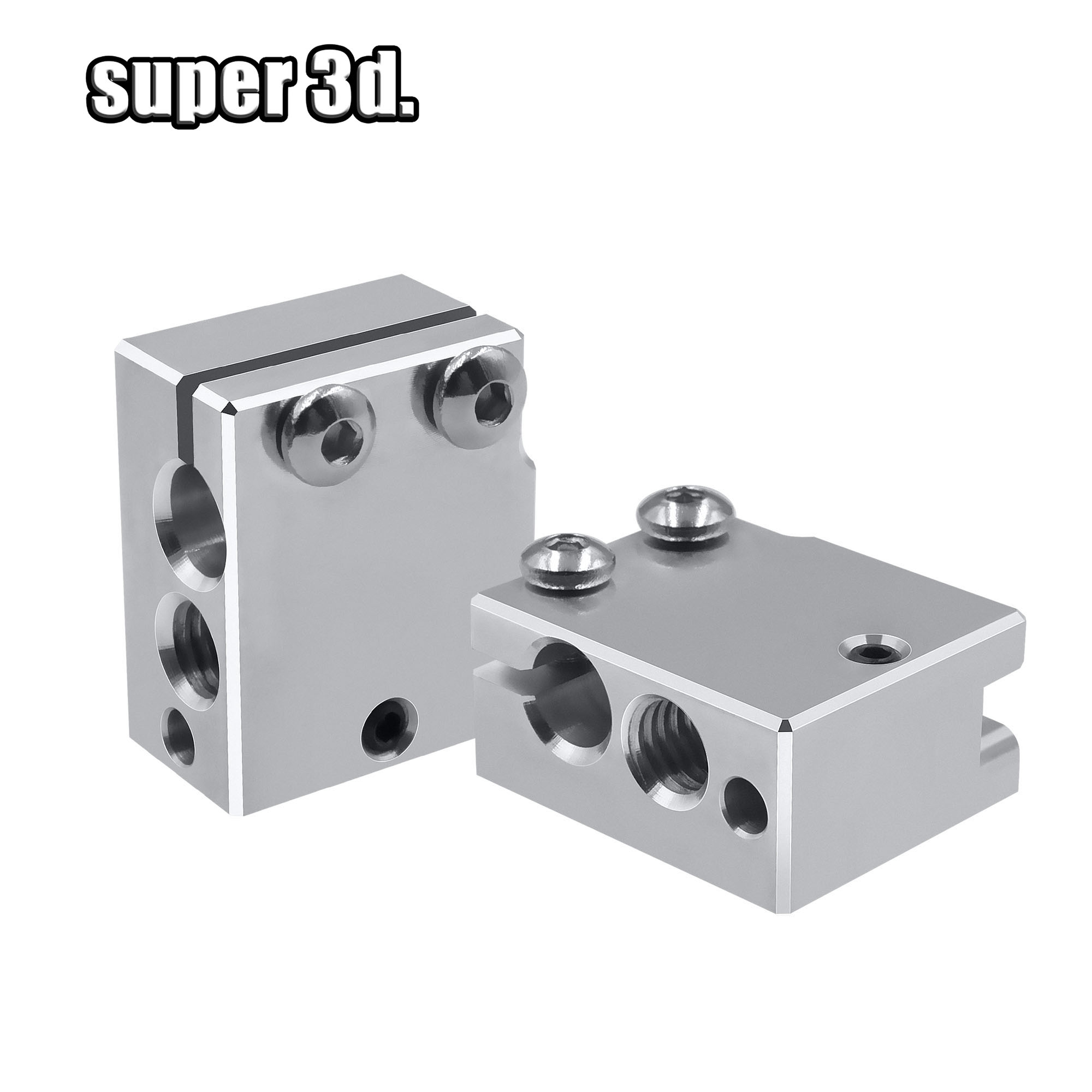 2/1pcs Upgrade PT100 Aluminum Volcano Copper Heat Block For E3d Volcano Hotend 3D Printer Heated Block For BMG Extruder TItan