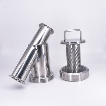 "51mm Pipe OD x 2"" Tri Clamp Sanitary Y-Shaped Strainer Filter SUS 304 316L Stainless Steel For Beer Brewing"
