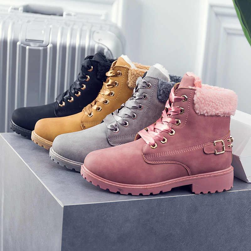 Fujin kadın kar botları 2019 yeni bayan kar botları kış yeni kadın kış ayakkabı kadın sıcak kadınlar erkek pamuklu ayakkabılar botları