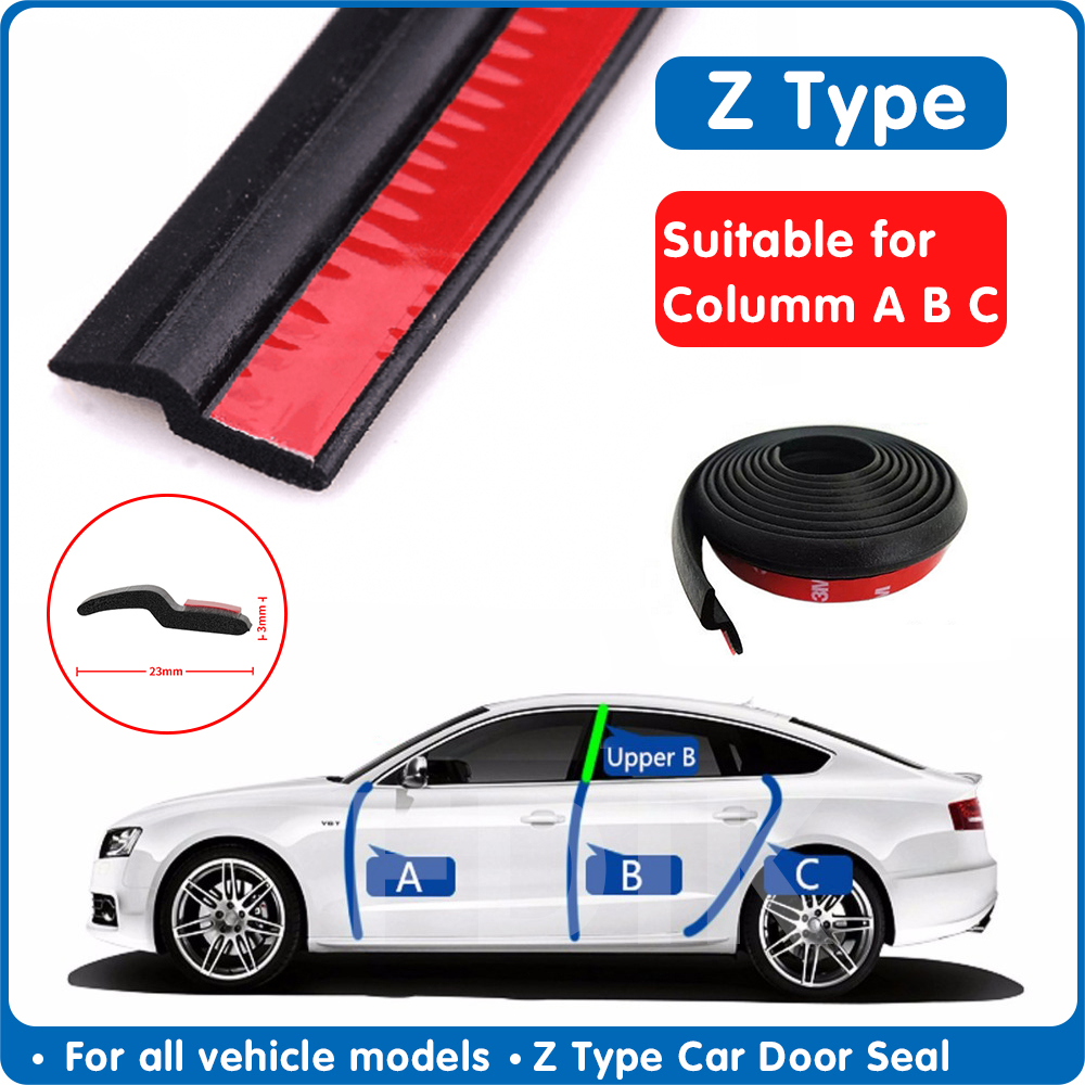 Z Type Car Door Seal Noise Insulation Weatherstrip Sealing Rubber Strip Trim Auto Rubber Seals Z-shaped Seal Car Accessories