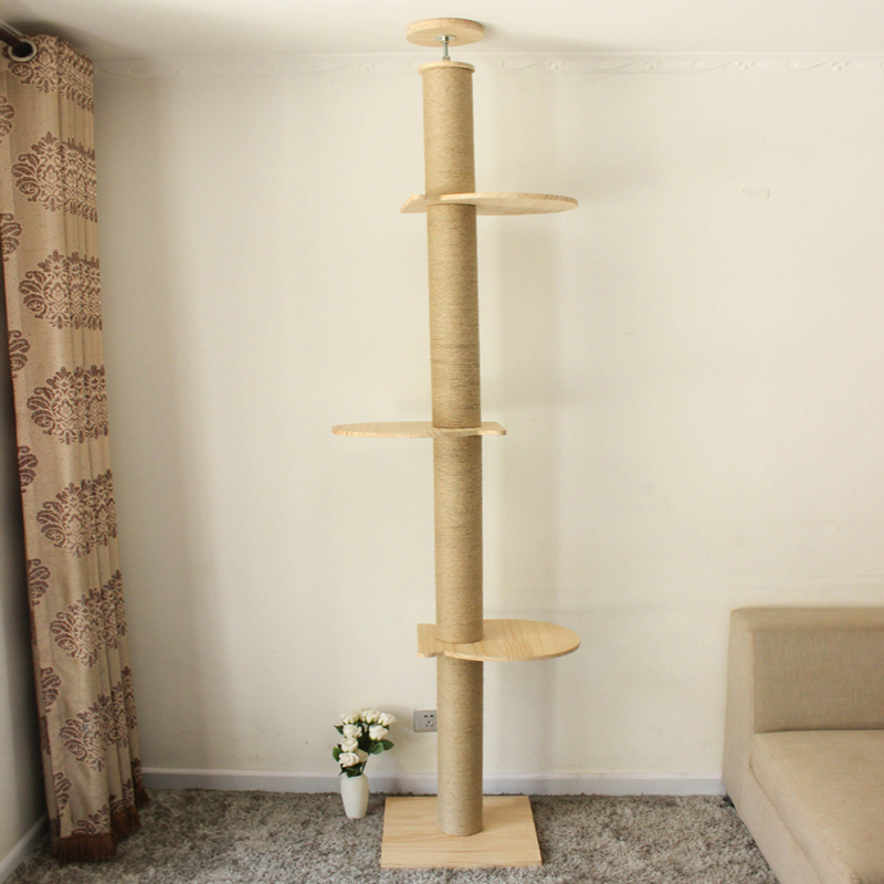 <font><b>Cat</b></font> Climbing Frame Seaweed Rope Rattan <font><b>Large</b></font> Jumping Table Scratch Board <font><b>Tree</b></font> Sisal Litter Pillar image