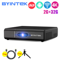 BYINTEK U30 2020 latest DLP Mini 3D Projector,Android Smart Wifi Beamer,300inch Portable Proyector for Smartphone 4K Cinema