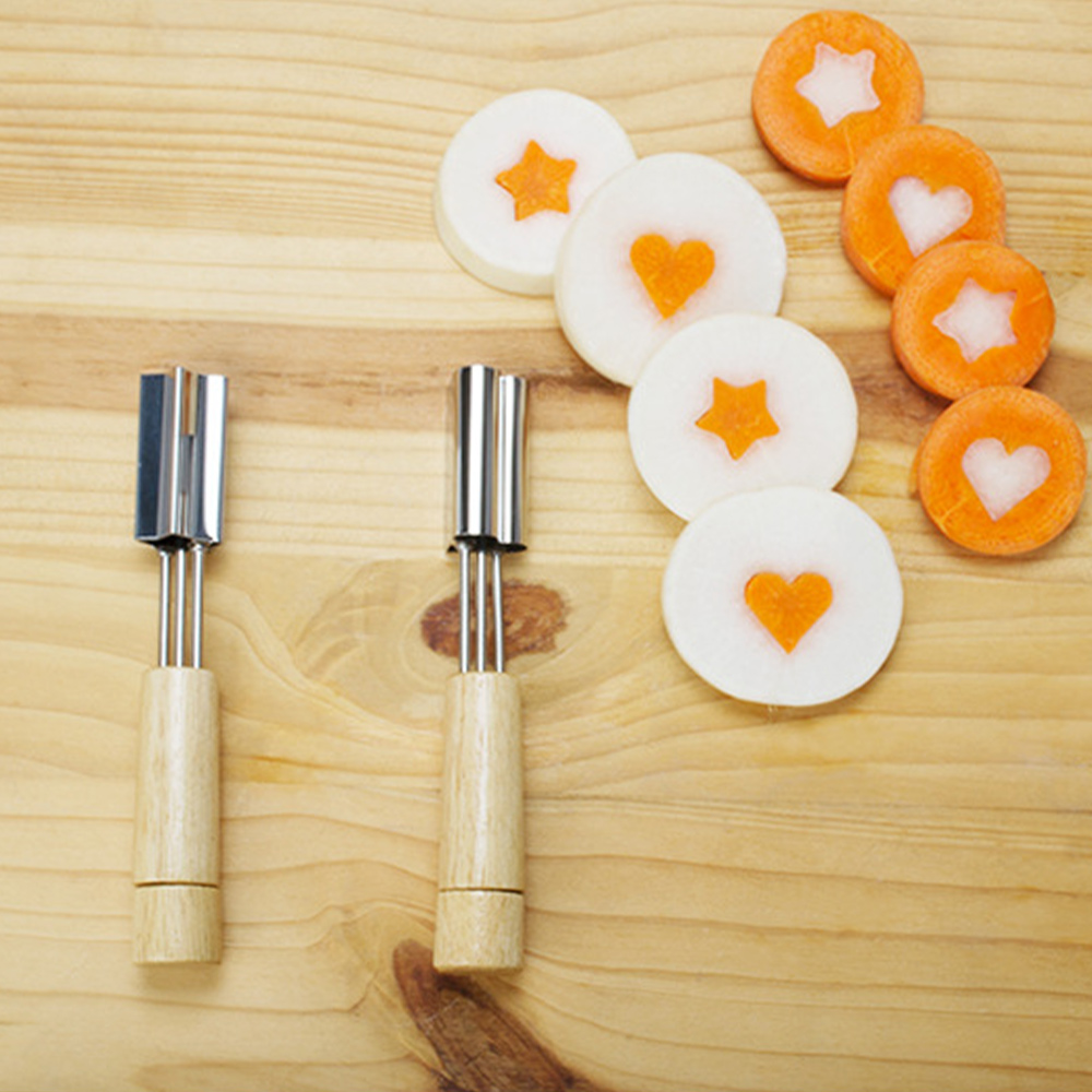 Stainless Steel Cookie Molds <font><b>Flower</b></font>/Heart/Star Shape Cookie <font><b>Cutter</b></font> With Wooden Handle Baking Pastry <font><b>Cake</b></font> <font><b>Decorating</b></font> <font><b>Tools</b></font> image