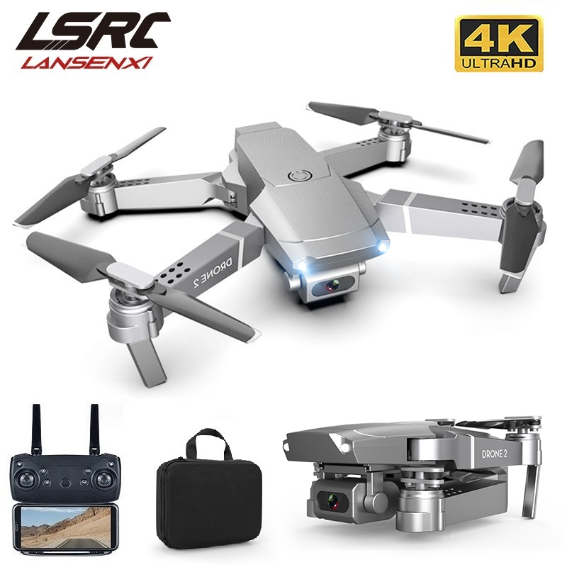 LSRC New E68pro Mini Drone Wide Angle 4K 1080P WiFi FPV Camera Drones Height Holding Mode RC Foldable Quadrotor Dron Toy Gift