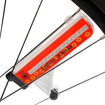 Велосипедный светильник на колесах, 16 светодиодов, сигнальная лампа для велоспорта, Предупреждение ющий светильник, 32 ярких узора, вкл./выкл...