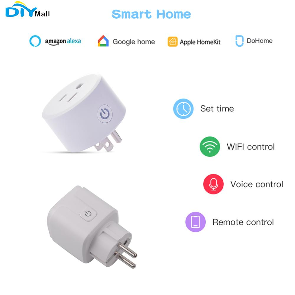 HomeKit Smart Plug US/EU Plug Outlet Socket Work With Apple Home APP Alexa/Google Assistant Timer No Hub Required 2.4GHz DoHome