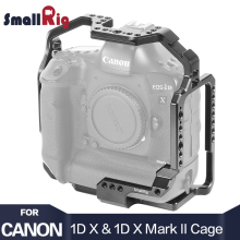 SmallRig Camera Cage for Canon EOS-1D X & 1D Mark II Feature w/ Nato Rail 1/4 3/8 Thread Holes For Microphone DIY Options 2365