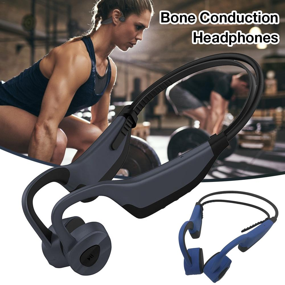 Bone Conduction Headphones Sports Wireless Bluetooth Headset 16GB Memory Storage Stereo Headset With Mic For Running Sports|  - title=