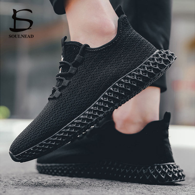 Spring Autumn New Men 39 s Running Sport Shoes Man 39 s Sneakers Flying Weave Breathable Outdoor Casual Shoe Lace up White Black 39 45 in Running Shoes from Sports amp Entertainment