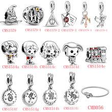 HOT SALE 100% Sterling Silver 925 Little Boy Little Girl Magic Series Charms Fit Original Pandora Bracelet For Women Jewelry
