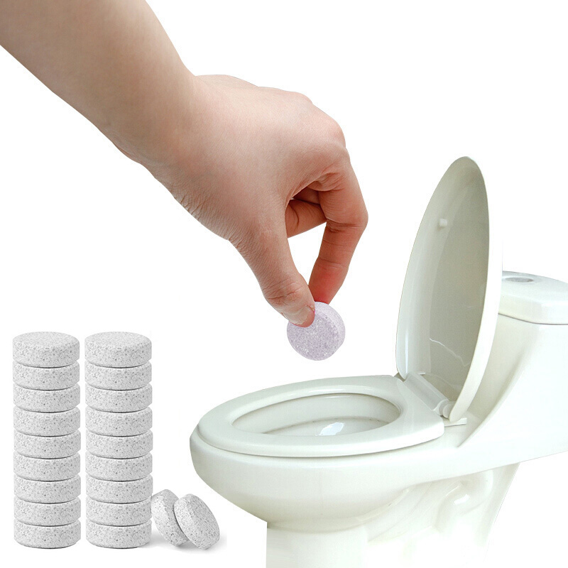 5/10/20 PCS Home Toilet Cleaning Tablet Multifunctional Effervescent Spray Cleaner Home Cleaning Toilet Cleaner Chlorine Tablets