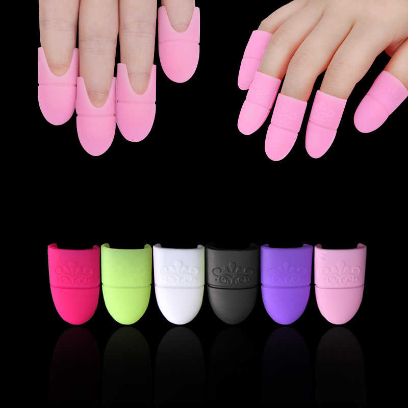 Nail Art Losweken Cap Silicone Uv Gel Polish Varnish Remover Schoon Ontvetter Clip Herbruikbare Nail Wraps Soaker Caps Manicure gereedschap