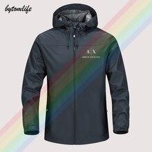 Hoodie Jacket Windbreaker Sport-Coat Print Male Men's Fashion High-Quality New Logo Waterproof