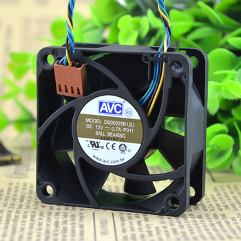 For AVC DS06025B12U P011 60X60X25mm 6cm DC 12V 0.70A Pwm server inverter cooling fan new original for adda ad0612hx a76gl dc 12v 0 23a 60x60x25mm 3 wire lead server inverter pc cpu case cooling fan