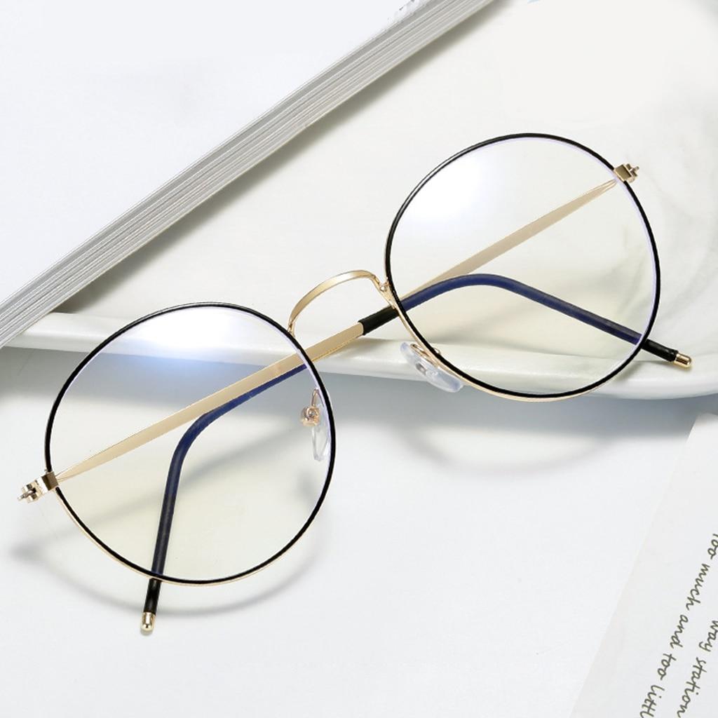 Очки компьютерные для мужчин и женщин, аксессуар с антибликовым покрытием, с круглыми прозрачными линзами, с защитой от синего света