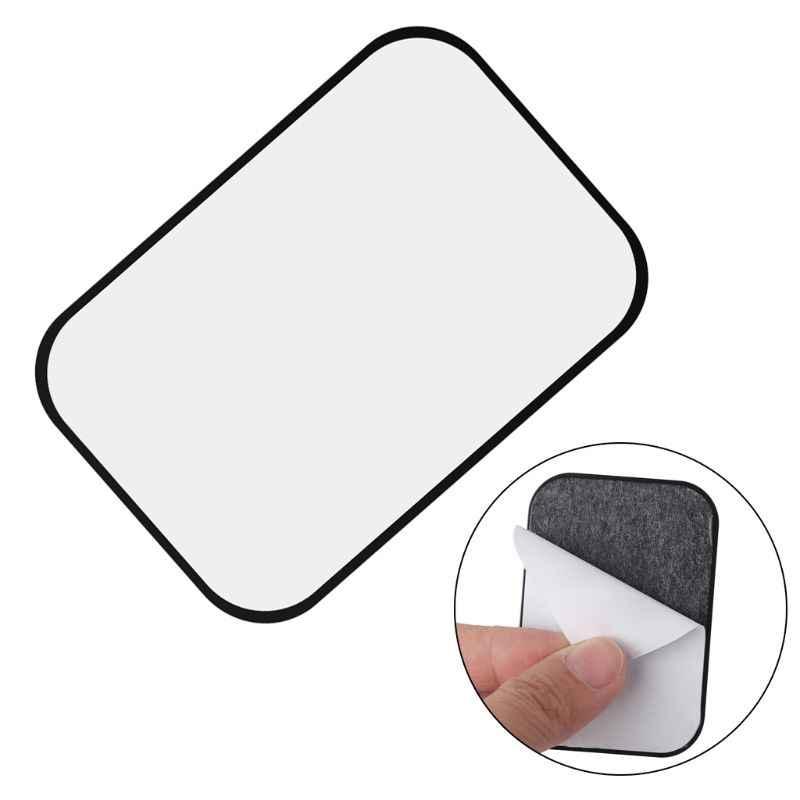 Metal plaka manyetik araç montaj manyetik telefon tutucu yapışkanlı etiket yuvarlak kare değiştirme