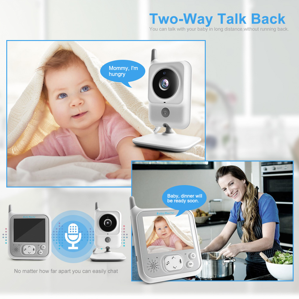 Wireless Baby Monitor With Two Way Audio Night light Temperature Pet Baby Camera 1