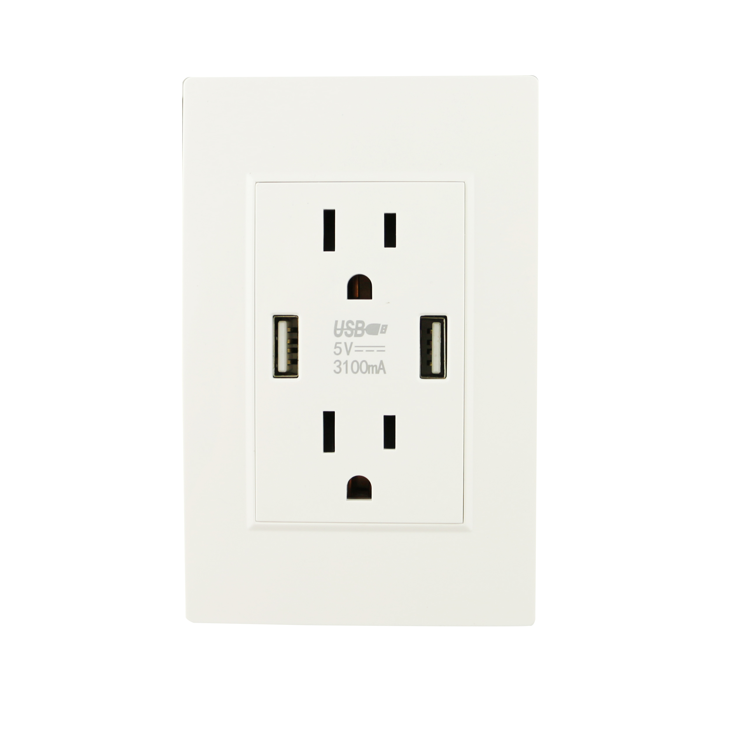 Wall Socket Dual Usb Port Adapter