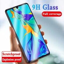 9H Volledige Cover Gehard Glas op Voor Huawei P20 Pro P30 lite Screen Protector Film Voor Honor 20 10 9 Lite 20 Pro Beschermende Glas