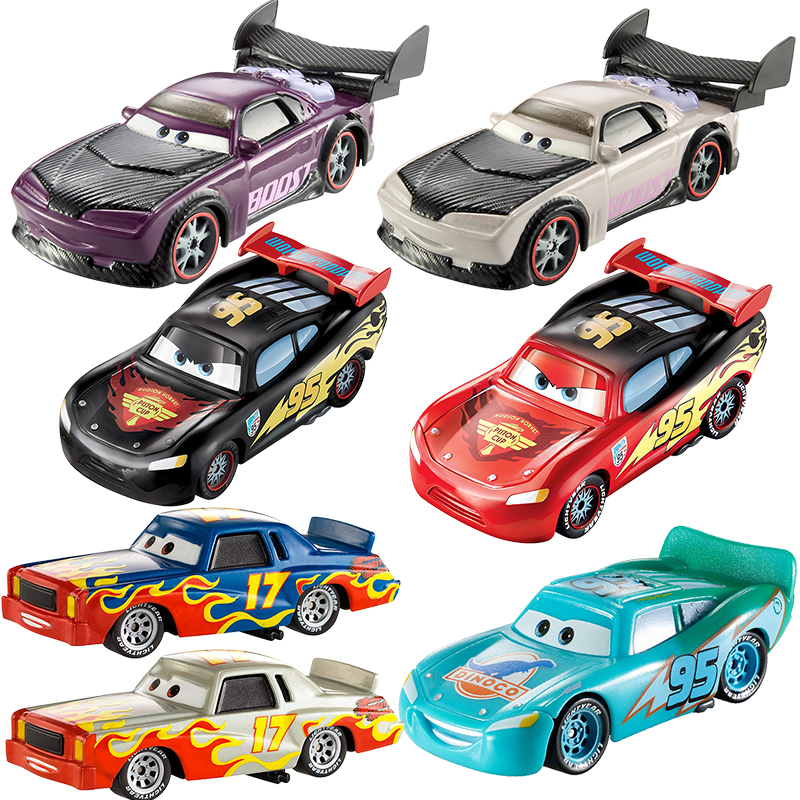 Disney Pixar Cars 2 3 Lightning McQueen Chance Color 1:55 Metal Vehical Model Car Toys For Children