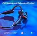 16 Гб IPX8 водонепроницаемый Bluetooth MP3 плеер для дайвинга плавания серфинга костной проводимости гарнитура музыкальный плеер