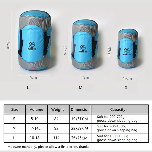 Outdoor Sleeping Bag Pack Compression Stuff Sack High Quality Storage Carry Bag Sleeping Bag Accessories 5